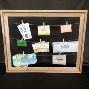 tickets in picture frame