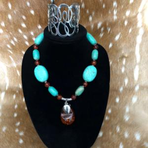 Turqoise and Amber Necklace